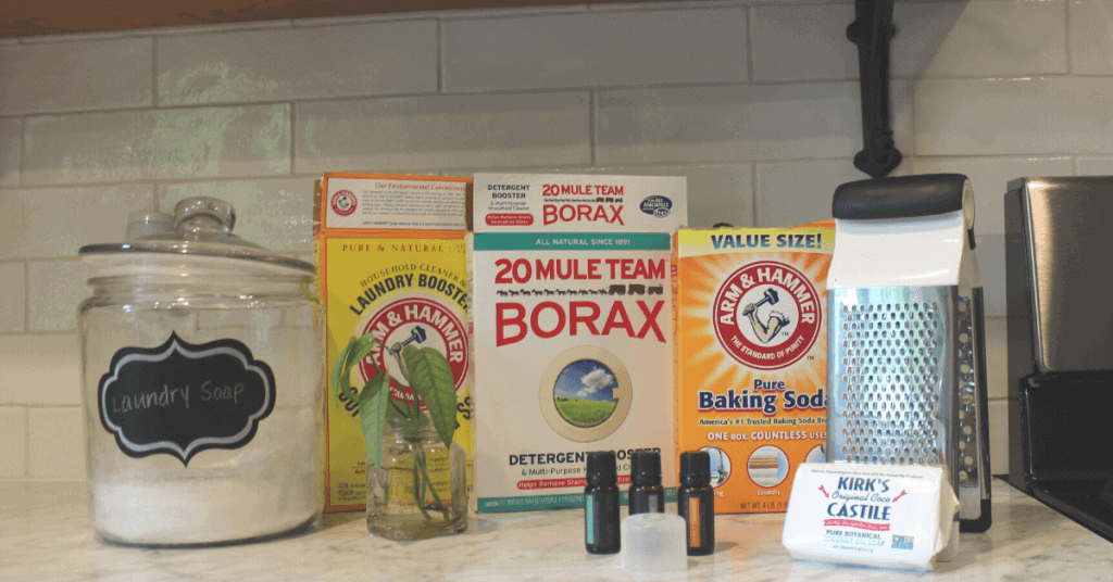 homemade laundry detergent recipe ingredients