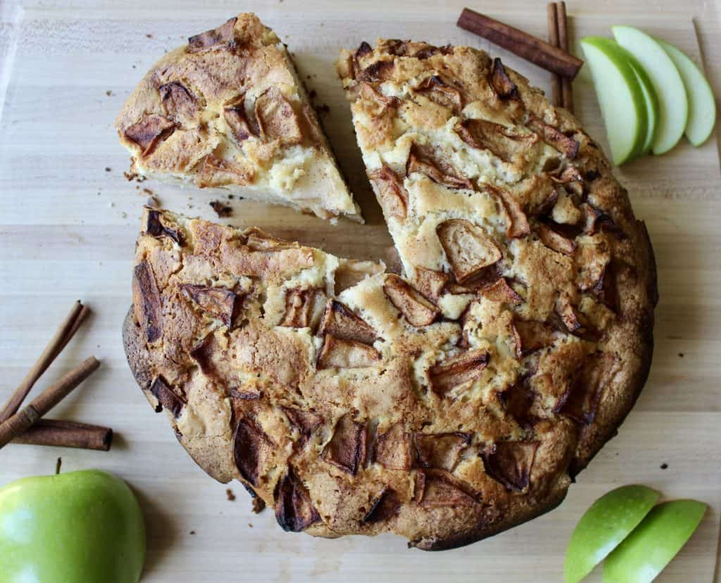homemade apple cake from scratch