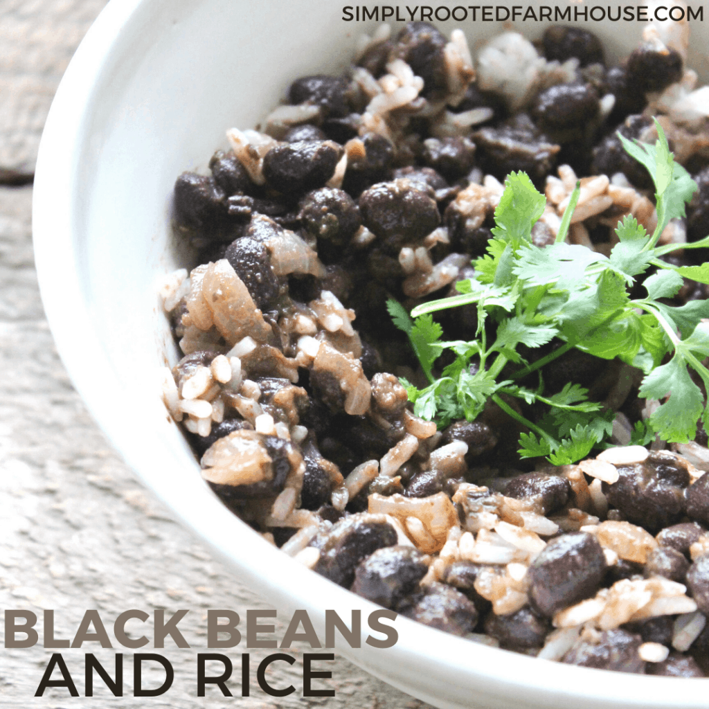 black beans and rice recipe image