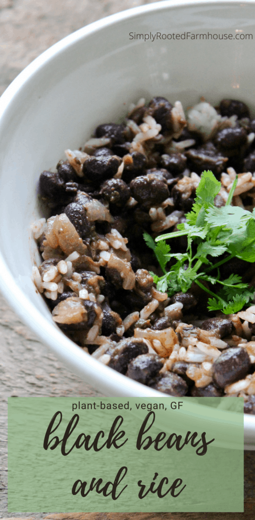 black beans and rice pinnable