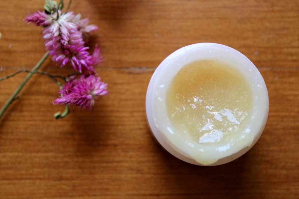 soothe lips with honey lip scrub