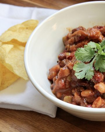perfect for fall three bean chili is easy to make