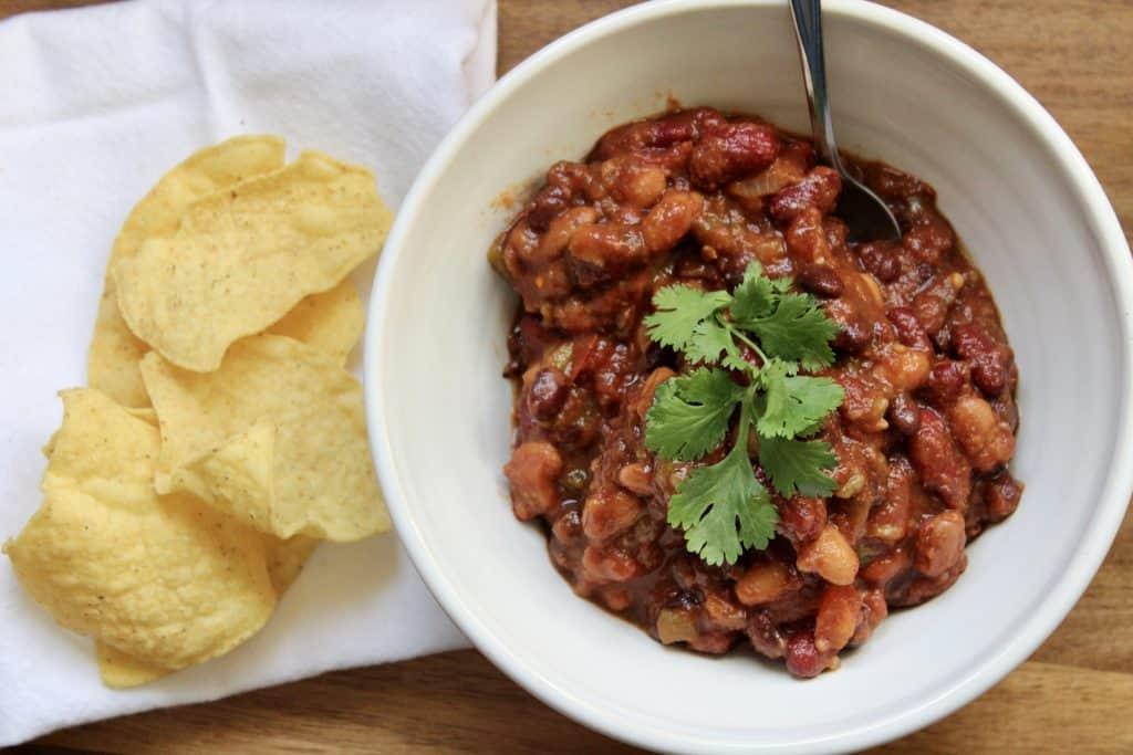 healthy plant based vegetarian chili