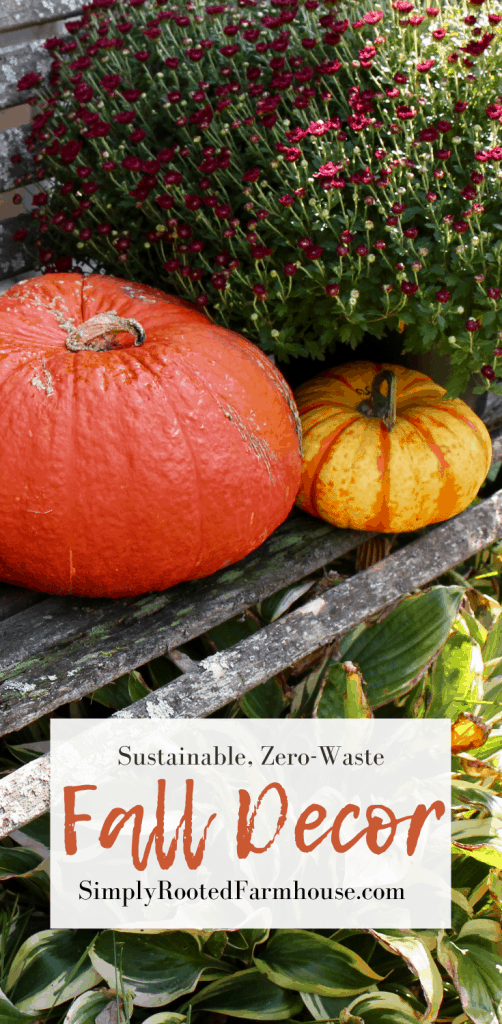 sustainably decorate for fall pin