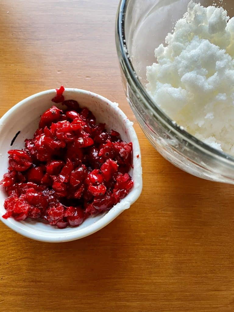 cranberries and coconut oil