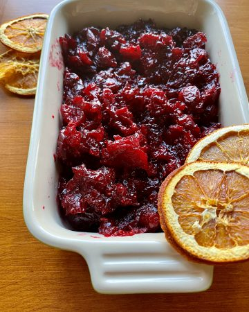 homemade cranberry sauce for thanksgiving