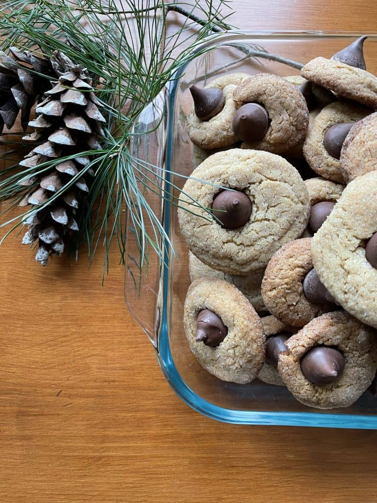 peanut butter blossoms perfect for christmas
