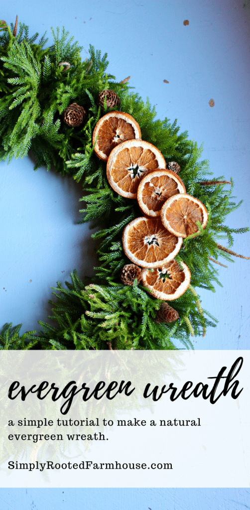 how to make a natural evergreen wreath tutorial