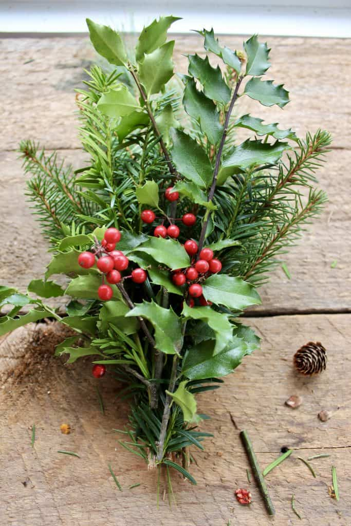 fresh greens for simple wreath making
