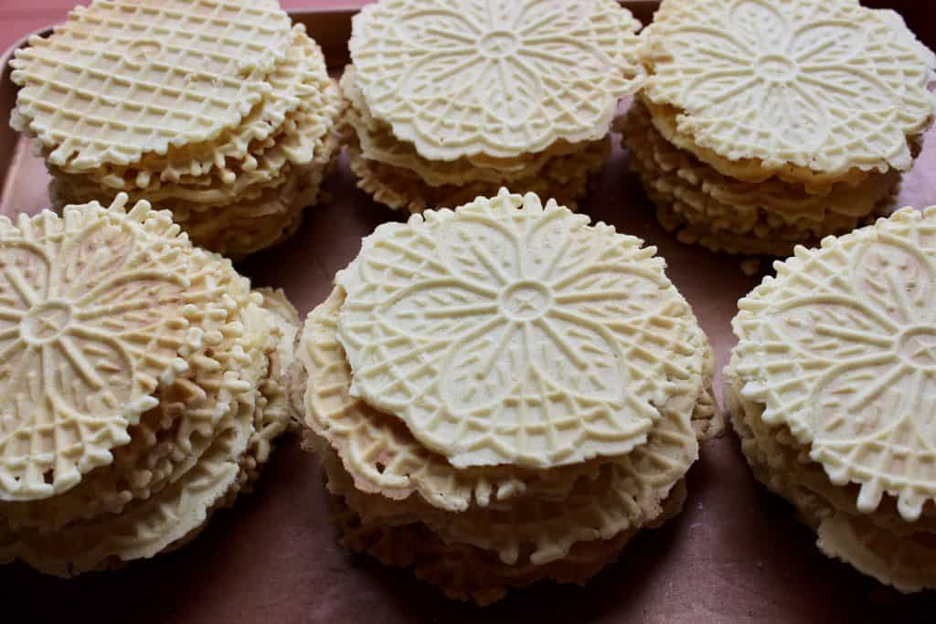 from scratch christmas pizzelles