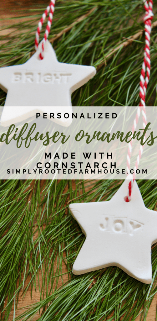 simple christmas ornaments made with cornstarch
