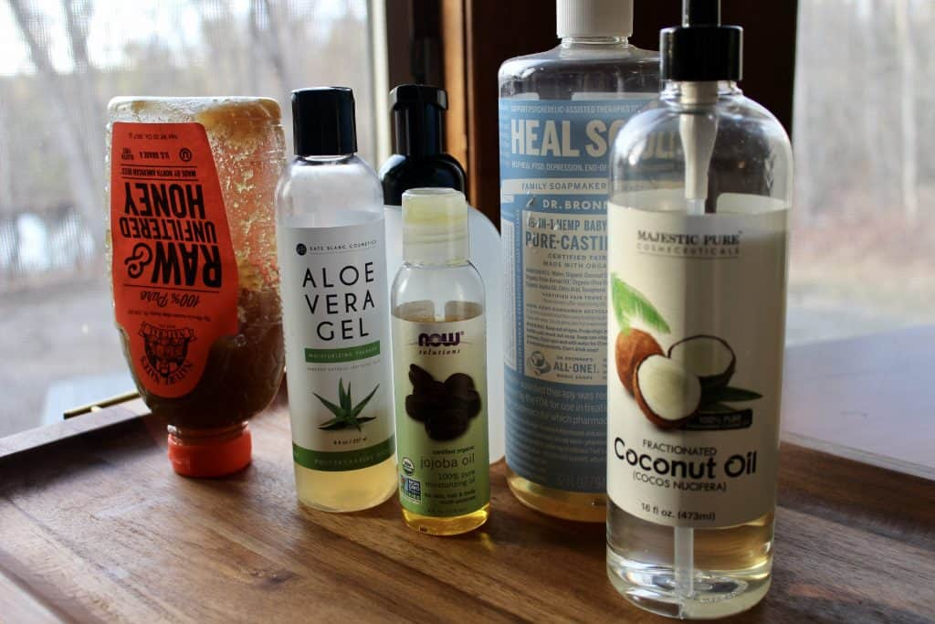 ingredients used in homemade body wash recipe