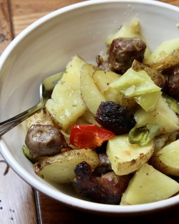 oven roasted sausage and potato recipe with peppers