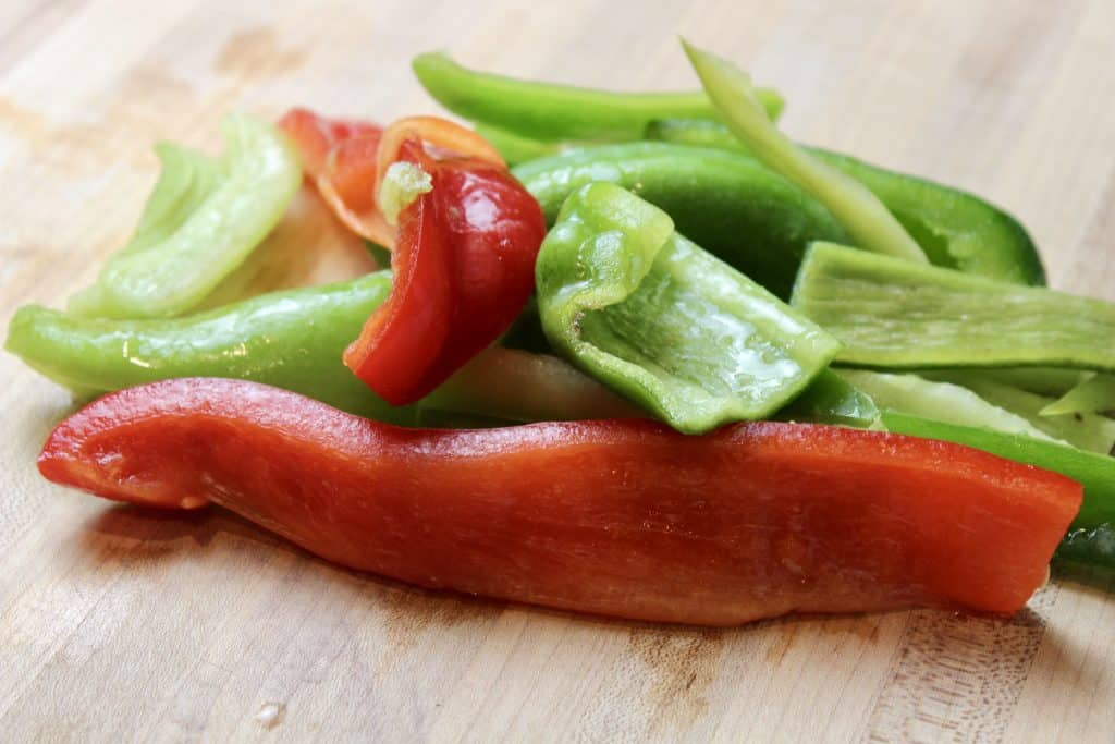 fresh frozen peppers for sausage and potato recipe