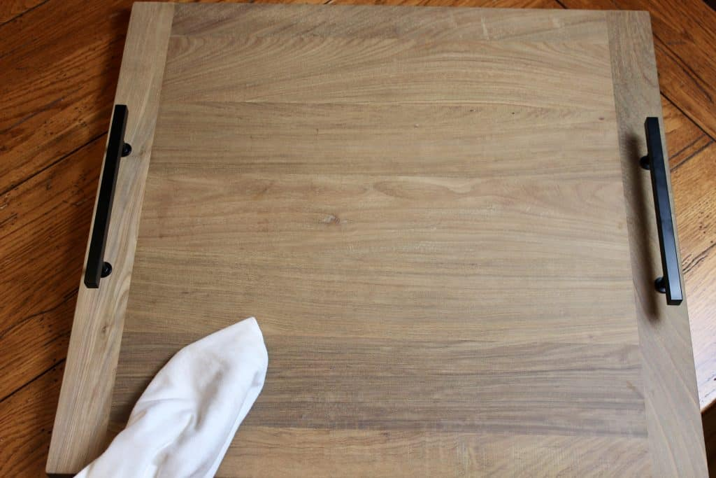diy hardwood charcuterie board ready to be oiled