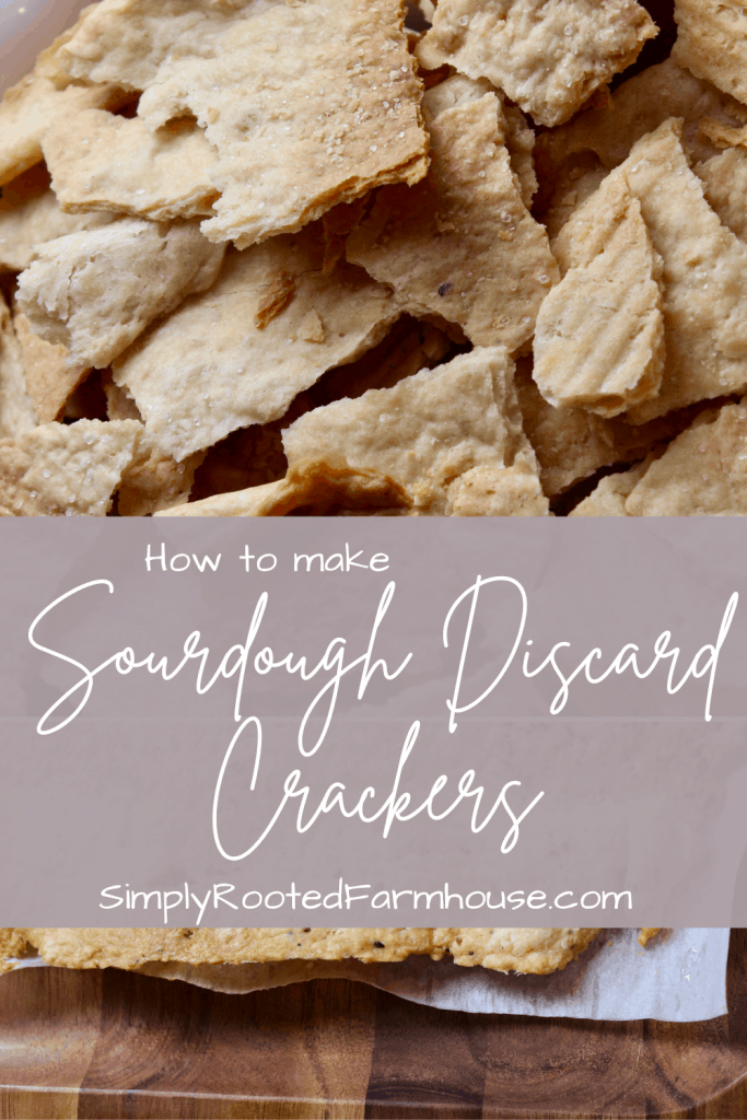how to make sourdough discard crackers from scratch pin