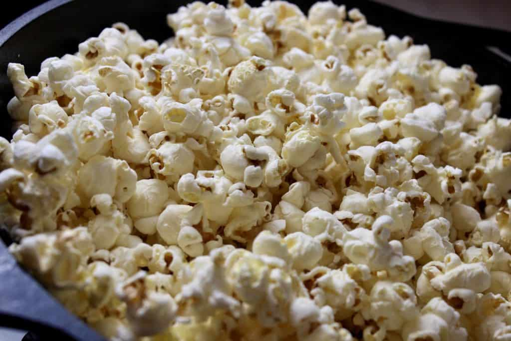 close up image of homemade popcorn
