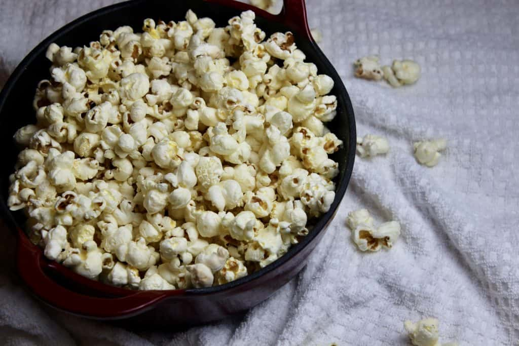 bowl of healthy homemade popcorn