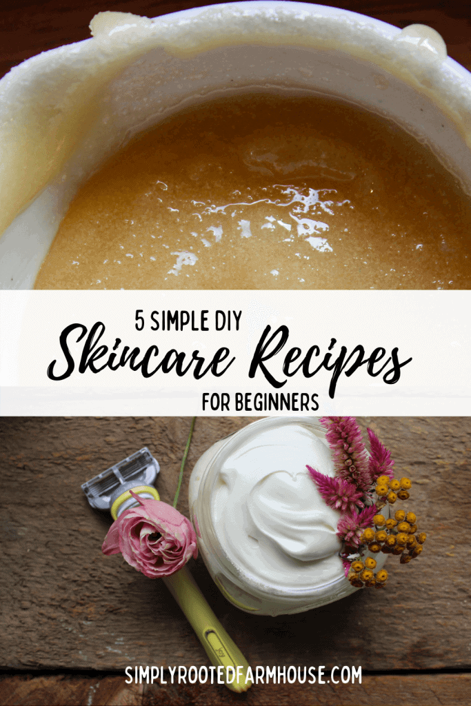 simple skincare recipes for beginners bowl of honey lip scrub and shaving cream all natural