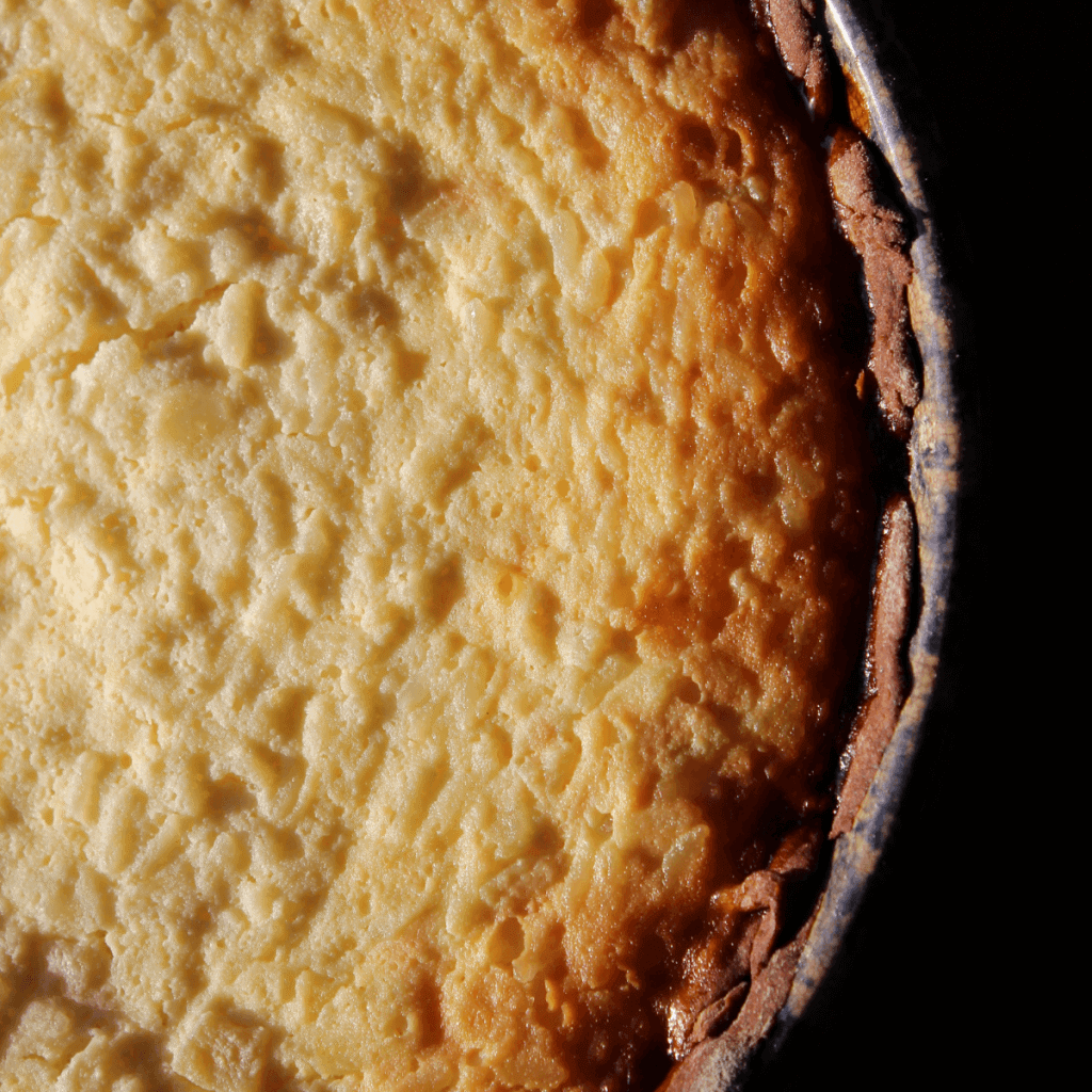 italian rice pie in a hand me down dish